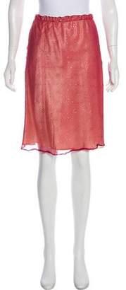 Tocca Silk Knee-Length Skirt