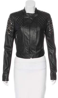 BCBGMAXAZRIA Studded Leather Jacket