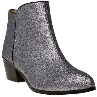 Sole New Womens Metallic Clara Synthetic Boots Ankle Zip