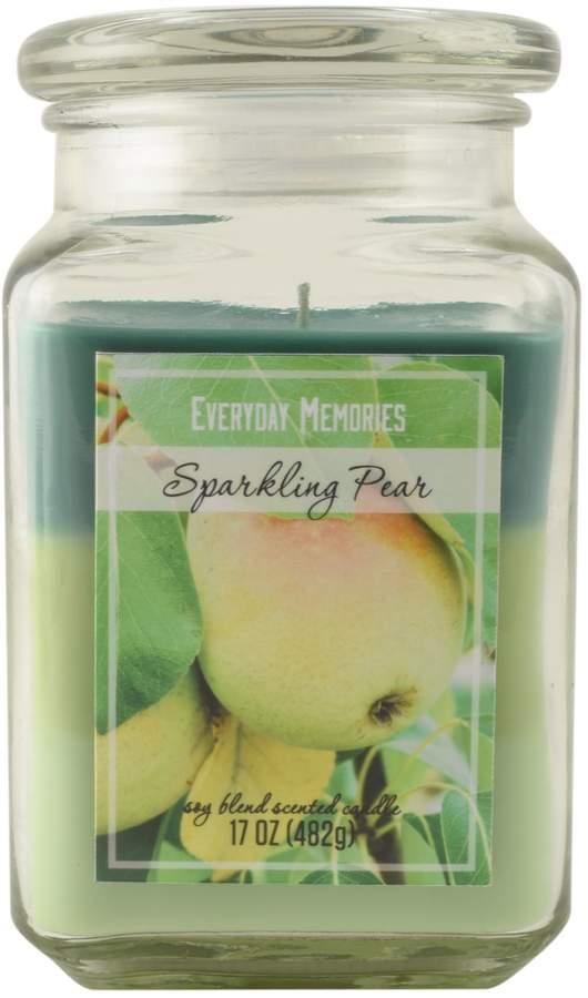 Everyday Memories Sparkling Pear 17-oz. Tri-Pour Candle Jar