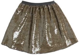 La Stupenderia Sequin Embroidered Twill Skirt