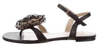 Valentino Embellished Ankle-Strap Sandals