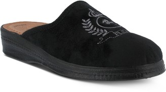 Spring Step Men's Embroidered Slippers - Fudge