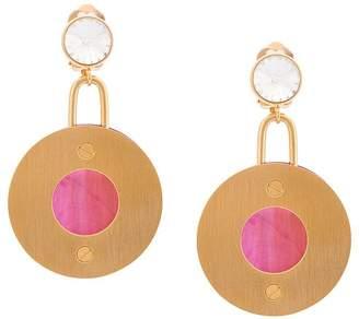 Marni disc drop earrings