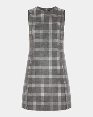 Theory Plaid Vented Front Shift Dress