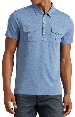 John Varvatos Star USA Flap Pocket Regular Fit Polo Shirt $128 thestylecure.com