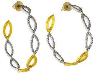 Gurhan Diamond Willow Hoop Earrings