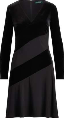 Ralph Lauren Velvet Fit-and-Flare Dress
