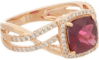 Effy Fine Jewelry 14K Rose Gold 3.31 Ct. Tw. Diamond & Rhodolite Ring
