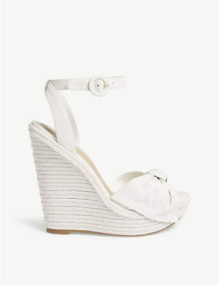 Aldo Besch leather high wedge sandals