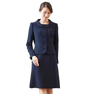 お受験スーツ アンサンブル 濃紺 ジャケット ワンピース レディース 夏 通年 洗える BLACK GALLERY ネイビー 7号