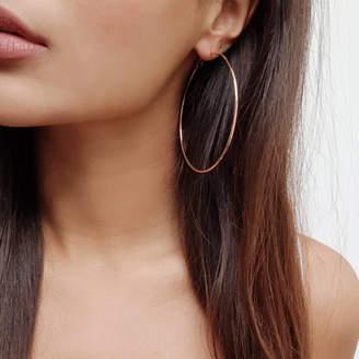 Nikita By Niki ® Oversized Hoop Earrings   Two Colours
