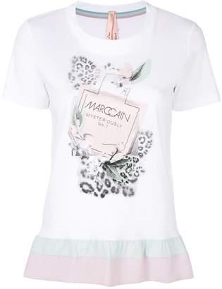 Marc Cain patterned ruffle hem T-shirt