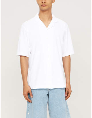 Sunspel Regular-fit cotton-towelling shirt