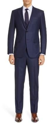 Ermenegildo Zegna Milano Trim Fit Plaid Wool Suit