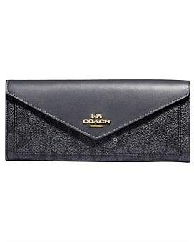 Coach Colorblock Coated Canvas Signature Soft Wallet