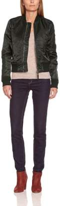 Schott NYC Women's American Colleagde MA1 Bomber Varsity Long Sleeve Jacket,X