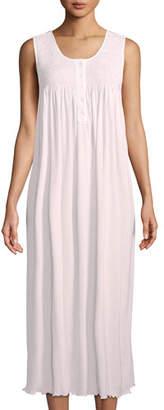 P Jamas Dandelion Sleeveless Long Pima Cotton Nightgown