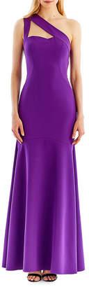 Nicole Miller NEW YORK New York One-Shoulder Trumpet Gown