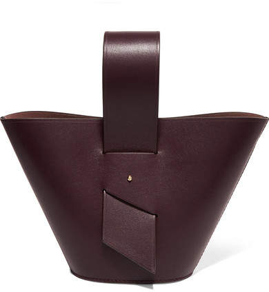Carolina Santo Domingo - Amphora Mini Leather Tote - Burgundy