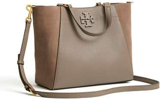 Tory Burch MCGRAW MIXED-MATERIALS SMALL CARRYALL