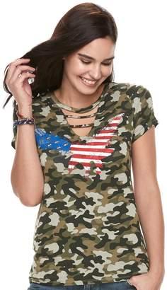 Rock & Republic Women's Camo Flag Tee