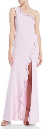 Jay Godfrey Alma One-Shoulder Ruffle Gown