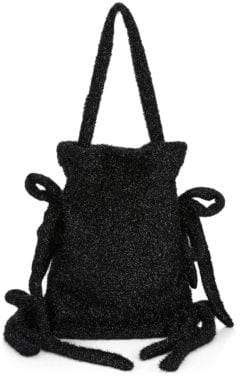 Simone Rocha Bow Accent Tinsel Drawstring Bag