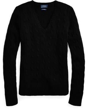 Ralph Lauren Cable Cashmere V-Neck Sweater