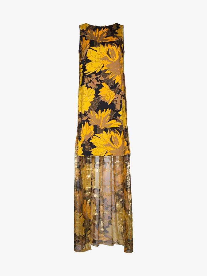 Domy Floral Cape Dress