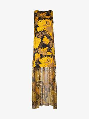 Dries Van Noten Floral Cape Dress