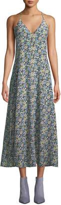 Rebecca Taylor Moonlight Floral Silk Maxi Dress