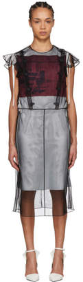 Calvin Klein Black Tulle Layered Dress
