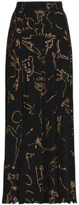 Valentino Printed Silk Maxi Skirt