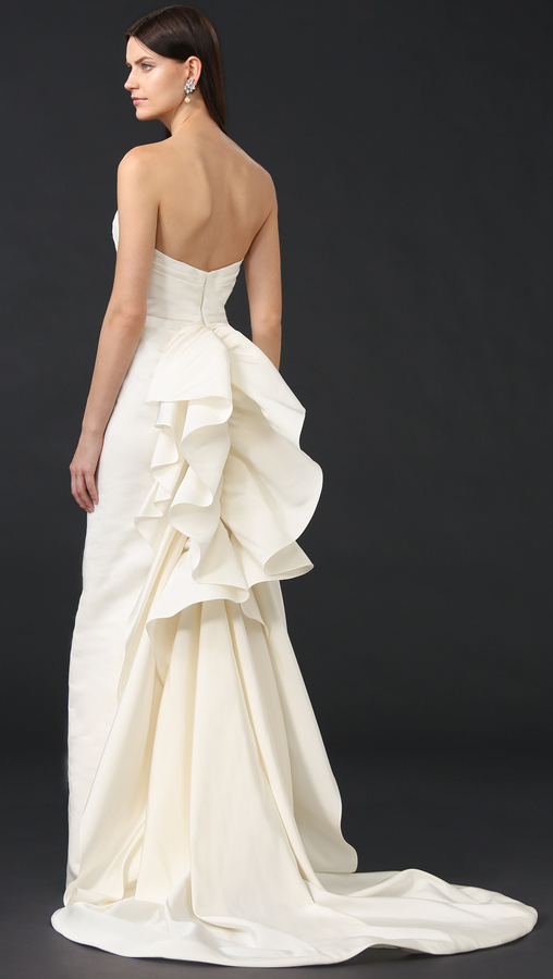 Marchesa Iris Strapless Gown