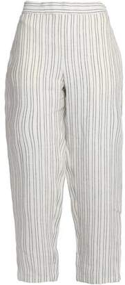 Theory Striped Linen Tapered Pants