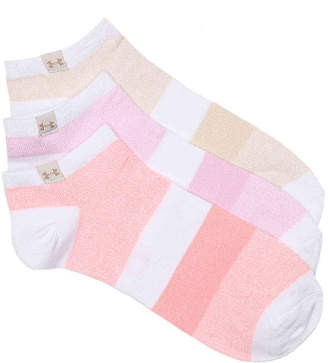Under Armour Colorblock Ankle Socks - 3 Pack - Women's