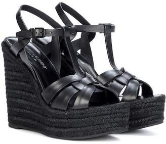 Saint Laurent Espadrille 85 leather sandals