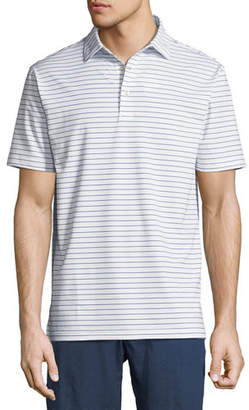 Peter Millar Halifax Striped Stretch Jersey Polo Shirt
