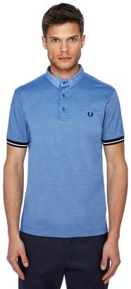 Fred Perry Blue Woven Textured Polo Shirt