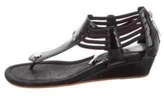 Donald J Pliner Patent Leather Wedges Sandals