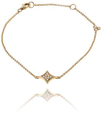 Lark & Berry Rhombus Diamond Pave Bracelet Yellow Gold