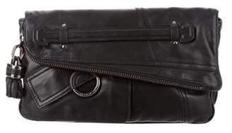 Derek Lam Leather Fold-Over Clutch