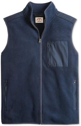 Brooks Brothers Red Fleece Men's Mixed Media Polar Fleece Vest