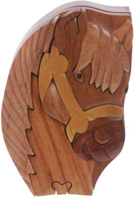 beltiscool Handcrafted Wooden Horse Shape Secret Jewelry Puzzle Box -Horse