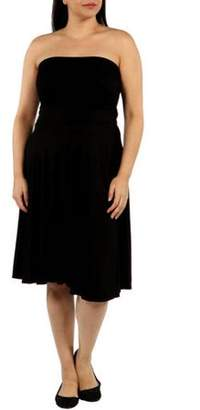 24/7 Comfort Apparel Women's Plus Irresistible Black Party Dress