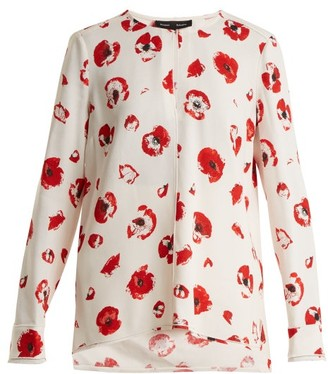 Proenza Schouler Poppy Print Crepe Blouse - Womens - Cream Print