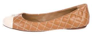 Tory Burch Quilted Cap-Toe Flats