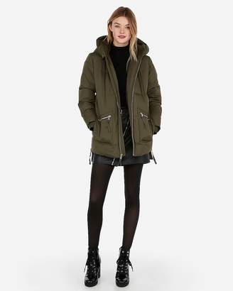Express Mid Length Sherpa Lined Puffer Jacket