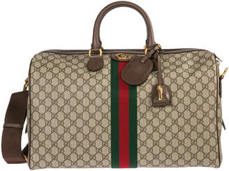 Gucci Genuine Leather Travel Duffle Weekend Shoulder Bag Ophidia